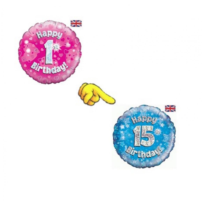 Ballon à chiffres imprimés de 1 à 15 ans