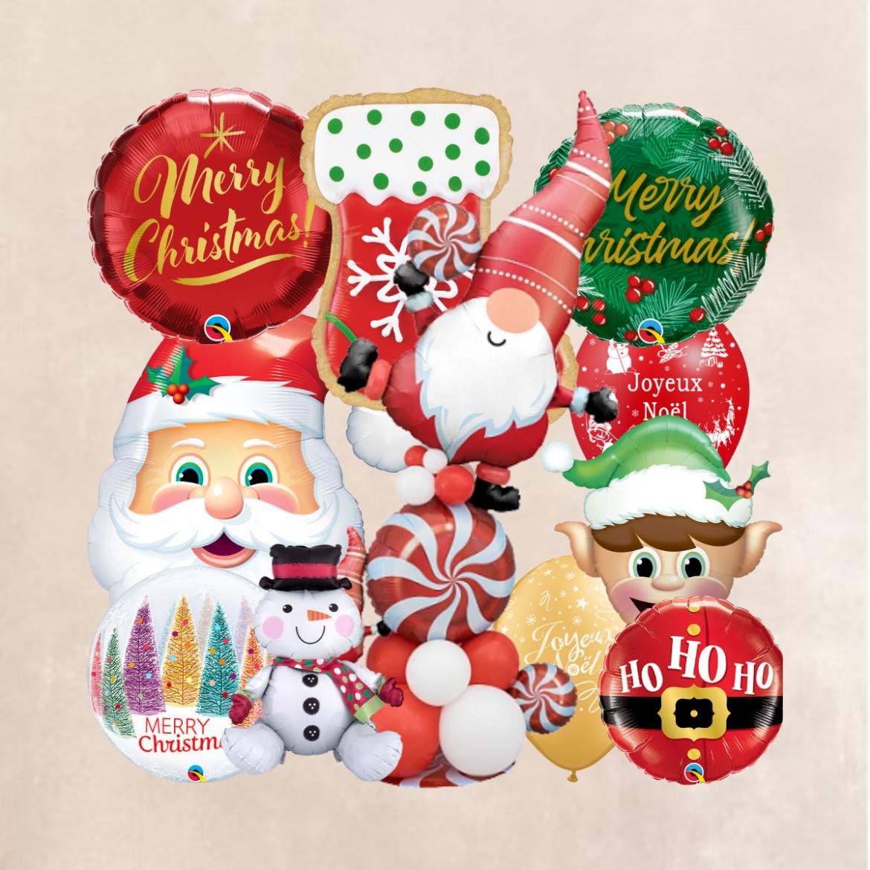 De beaux ballons votre fête et réveillon de Noël
