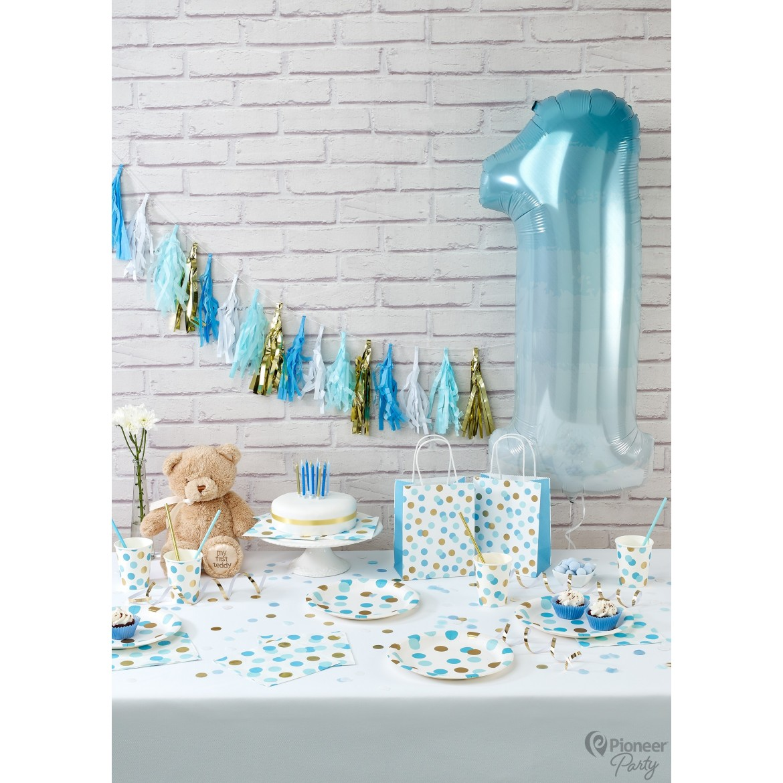 Blue & Gold Dots Party