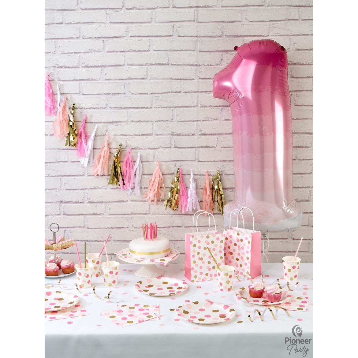 Pink & Gold Dots Party