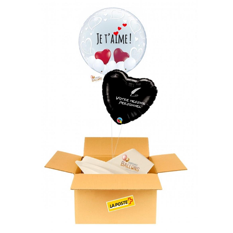 Ballon envoyé par la Poste - Saint-Valentin - Amour - Amoureux