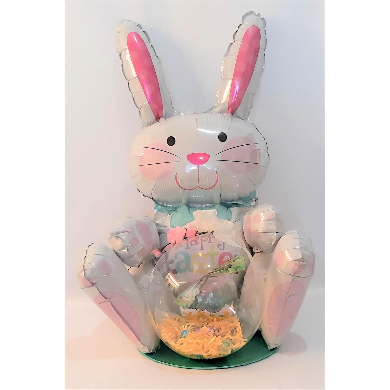 Composition et bouquet de Ballons pour Pâques Lapin Printemps
