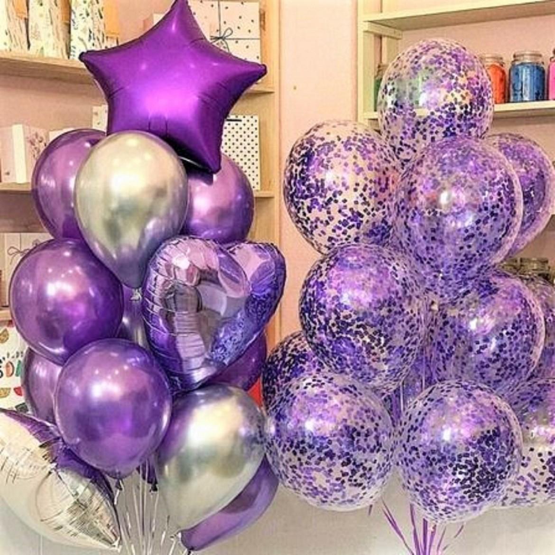 Un Flot de Ballons Miroire et Confettis très tendance