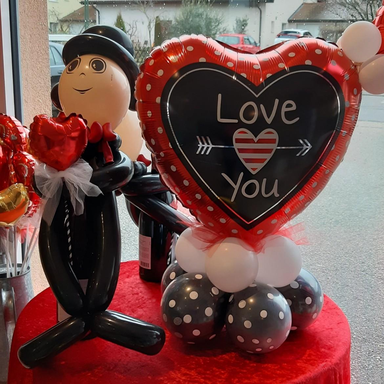 Ballon Bouquet Composition Décoration pour la Saint-Valentin